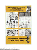 "Movie Posters:Action, You Only Live Twice (United Artists, 1967). Poster (40"" X 60"").Sean Connery reprised his role as James Bond, Agent 007 in t..."