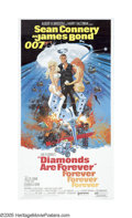 "Movie Posters:Action, Diamonds Are Forever (United Artists, 1971). Three Sheet (41"" X81""). The last official outing of Sean Connery's famous role..."