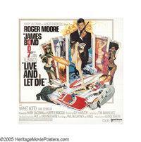 "Live and Let Die (United Artists, 1973). Six Sheet (81"" X 81""). After Sean Connery hung up his Beretta and ret..."