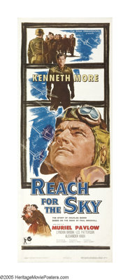 """Reach for the Sky (Rank, 1956). Insert (14"""" X 36""""). Director Lewis Gilbert has helmed one of the most quietly..."""