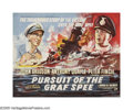"Movie Posters:War, Pursuit of the Graf Spee (Rank, 1956). British Half Sheet (22"" X 28""). The story of the first great naval battle of WWII bet..."