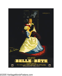 "Beauty and the Beast (DisCina, 1946). French (47"" X 62""). Like Orpheus, Jean Cocteau has descended into the la..."