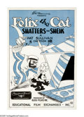 "Movie Posters:Animated, Felix the Cat-Shatters the Sheik (Educational Film, 1926). One Sheet (27"" X 41""). Pat Sullivan, a New Jersey based early pio..."