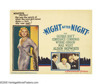 "Night After Night (Paramount, 1932). Lobby Card (11"" X 14""). Mae West in her first screen role, steals the mov..."