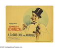"""Movie Posters:Comedy, A Slight Case of Murder (Warner Brothers, 1938). Title Lobby Card(11"""" X 14""""). This comedy, based on a play by Damon Runyon,..."""