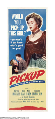 "Pickup (Columbia, 1951). Insert (14"" X 36""). Low-budget auteur Hugo Haas sets the standard for his body of wor..."