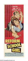 "Movie Posters:Bad Girl, Reform School Girl (American International, 1957). Insert (14"" X36""). Give partial credit to American International Picture..."
