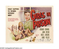 "Movie Posters:Bad Girl, Girls in Prison (American International, 1956). Half Sheet (22"" X28""). This pivotal film of the ""bad girl"" era asked the po..."