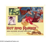 "Hot Rod Rumble (Allied Artists, 1957). Half Sheets (2) (22"" X 28""). In a rough and tumble hot rod club, new me..."