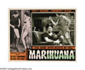 "Movie Posters:Cult Classic, Marihuana (Roadshow Attractions, 1936). Lobby Card (11"" X 14"").Dwain Esper's low-budget exploitation cult classic follows t..."