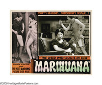 "Marihuana (Roadshow Attractions, 1936). Lobby Card (11"" X 14""). Dwain Esper's low-budget exploitation cult cla..."