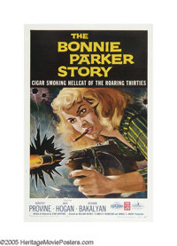 "The Bonnie Parker Story (American International, 1958). One Sheet (27"" X 41""). This cheap AIP feature is an od..."