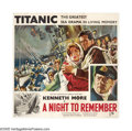"Movie Posters:Drama, A Night to Remember (Rank, 1959). Six Sheet (81"" X 81""). Fortyyears before Leo and Kate pledged that their hearts would go ..."