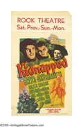 "Movie Posters:Adventure, Kidnapped (20th Century Fox, 1938). Midget Window Card (8"" X 14"").This stunning artistic image comes from the film adaptati..."