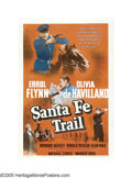 "Movie Posters:Drama, Santa Fe Trail (Warner Brothers, 1940). One Sheet (27"" X 41""). Setin the days leading up to the Civil War, ""Santa Fe Trail""..."