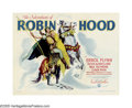 "Movie Posters:Adventure, Adventures of Robin Hood (Warner Brothers, 1938). Half Sheet (22"" X28"") Style B. Many Robin Hoods have graced the screen, b..."