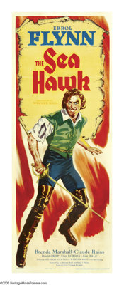 """The Sea Hawk (Warner Brothers-First National, 1940). Insert (14"""" X 36"""").The swashbuckling team of director Mic..."""