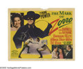 "Movie Posters:Swashbuckler, The Mark of Zorro (20th Century Fox, 1940). Title Lobby Card (11"" X 14""). Tyrone Power stars in this great remake of the Dou..."