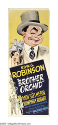 "Movie Posters:Crime, Brother Orchid (Warner Brothers, 1940). Insert (14"" X 36"").Although the one sheet turns up with some frequency, this insert..."