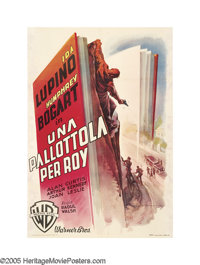 "High Sierra (Warner Brothers, 1949 Post War Release). Italian (39"" X 55""). Martinati captured the film's main..."