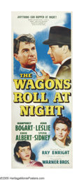 """Movie Posters:Drama, The Wagons Roll at Night (Warner Brothers, 1941). Insert (14"""" X36""""). Humphrey Bogart runs a carnival that rolls into a smal..."""