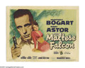 "Movie Posters:Crime, Maltese Falcon (Warner Brothers, 1941). Title Lobby Card (11"" X14""). John Huston, a former screenwriter making his director..."