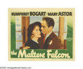 """Movie Posters:Crime, The Maltese Falcon (Warner Brothers, 1941). Lobby Card (11"""" X 14""""). Humphrey Bogart, as the quintessential film noir det..."""