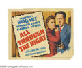 "Movie Posters:Action, All Through the Night (Warner Brothers, 1942). Title Lobby Card(11"" X 14""). Broadway gambler Alfred ""Gloves"" Donahue (Humph..."