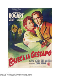 """All Through the Night (Warner Brothers, 1945 Post-War Release). French (47"""" X 63""""). Although the picture was m..."""