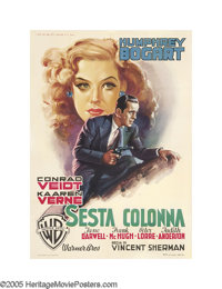 "All Through the Night (Warner Brothers, 1949 Post-War Release). Italian (39"" X 55""). Undoubtedly one of Humphr..."