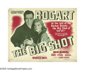 "Movie Posters:Crime, The Big Shot (Warner Brothers, 1942). Half Sheet (22"" X 28"") Style B. Humphrey Bogart reprises his role of a ""B""-grade gangs..."