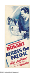 """Movie Posters:War, Across the Pacific (Warner Brothers, 1942). Insert (14"""" X 36"""").Humphrey Bogart stars in this war-time effort as an undercov..."""