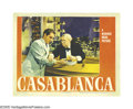 "Movie Posters:Film Noir, Casablanca (Warner Brothers, 1942). Lobby Card (11"" X 14""). PaulHenreid did not want the role of Victor Lazlo, but Selznick..."