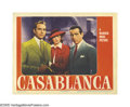 "Movie Posters:Film Noir, Casablanca (Warner Brothers, 1942). Lobby Card (11"" X 14""). Of all the lobby cards in all the world, collectors have to buy ..."