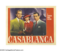 "Casablanca (Warner Brothers, 1942). Lobby Card (11"" X 14""). Of all the lobby cards in all the world, collector..."