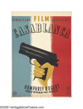 "Movie Posters:Film Noir, Casablanca (Warner Brothers, 1947 Post-War Release). Polish (23"" X 33""). Artist Eryk Lipinski conceived this unique design t..."