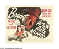 "Movie Posters:War, Action in the North Atlantic (Warner Brothers, 1943). Half Sheets(2) (22"" X 28"") Style A & B. Humphrey Bogart and Raymond M...(2 items)"