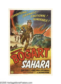 "Movie Posters:War, Sahara (Columbia, 1943). One Sheet (27"" X 41"") Style B. UnlikeWarner Brothers, who only made one style one sheets for their..."