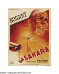 "Movie Posters:War, Sahara (Columbia, 1945 Post-War Release). French (47"" X 63"").Zoltan Korda, known for his adventure pictures in England, dir..."