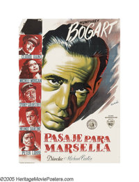 """Passage to Marseille (Warner Brothers, 1944). Spanish One Sheet (27"""" X 39""""). In one of the more unique ways to..."""