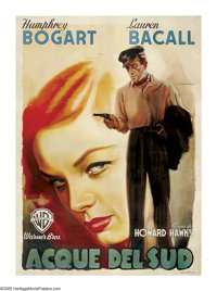 """To Have and To Have Not (Warner Brothers, 1945 Post-War Release). Italian (55"""" X 78""""). This spectacular graphi..."""
