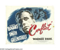 """Movie Posters:Film Noir, Conflict (Warner Brothers, 1945). Half Sheets (2) (22"""" X 28"""") Style A and B. This was one of the rare departures for Bogart ... (2 Items)"""