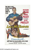 "Movie Posters:Elvis Presley, Love Me Tender (Twentieth Century Fox, 1956). One Sheet (27"" X41""). Elvis Presley was already a rock 'n' rolling sensation ..."
