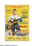 "Movie Posters:Elvis Presley, Love Me Tender (Twentieth Century Fox, 1956). Poster (40"" X 60"").Elvis Presley, the icon of Rock 'N' Roll, became an icon o..."
