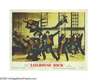 """Jailhouse Rock (MGM, 1957). Lobby Card (11"""" X 14""""). Elvis Presley refused to watch this film due to Judy Tyler..."""