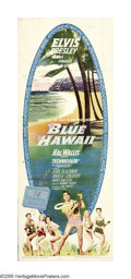 """Movie Posters:Elvis Presley, Blue Hawaii (Paramount, 1961). Insert (14"""" X 36""""). Who says rock 'n' roll overturned the beloved music of the previous gener..."""
