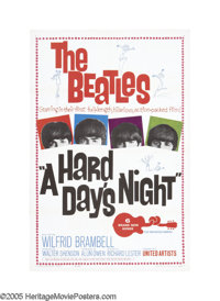 """A Hard Day's Night (United Artists, 1964). One Sheet (27"""" X 41""""). In February 1964, after taking Great Britain..."""