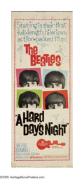"Movie Posters:Rock and Roll, A Hard Day's Night (United Artists, 1964). Insert (14"" X 36"").Beatlemania hit the U.S. in 1964 and United Artists wanted to..."