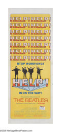 "Movie Posters:Musical, Help! (United Artists, 1965). Insert (14"" X 36""). The Beatles second film has the Fab Four being chased to exotic locales ar..."