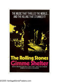 "Gimme Shelter (Twentieth Century Fox, 1970). One Sheet (27"" X 41""). Albert Maysles, one of the renowned brothe..."